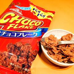 森永チョコフレーク/来春販売終了/美味しい/スプーンで食べる 森永チョコフレーク。 指が汚れるなどの理…