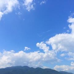 今日の空。/快晴/天気/秋の気配 今日の空。 スコールの5分後には快晴に!…