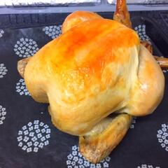 おうちごはん/ローストチキン/クリスマスイブ/美味しい 今日のおうちごはん。 クリスマスイブなの…(1枚目)