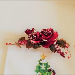 お気に入り。/バラのスワッグ/クリスマス/20年選手/お気に入り わたしのお気に入り。 バラのスワッグは2…