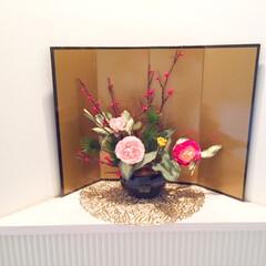 私のお気に入り。/お正月/玄関/時間短縮/経済的/造花/... 私のお気に入り。 玄関をお正月気分に盛り…(1枚目)