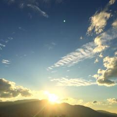 今日の空/天気/ダイアモンド富士/手稲山 今日の空。 富士山だとダイアモンド富士っ…