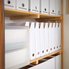 年度末/書類整理/片づけ/100均/無印良品/ファイルボックス/... 年度末の書類整理を実行。 100均や無印…