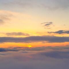 みんなにおすすめ/空の旅/夕日/景色/風景 空の旅の醍醐味。 夕日が沈む時間の飛行は…