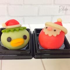 クリスマス2019/和菓子/サンタさん/運がっぱ/クリスマスカラー クリスマス2019。 和菓子のクリスマス…