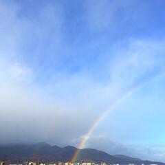 今日の空/虹/二重の虹/雨/晴れ/天気/... 今日の空。 虹が見えました。 しかも、二…