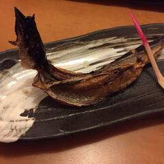 私のご飯/しあわせご飯/サンマの一夜干し/サンマのイナバウアー/わたしのごはん サンマの一夜干し。 焼く時に形を作るのだ…