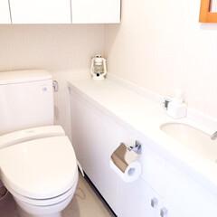 トイレのインテリア/停電用/ランタン/モノトーン トイレのインテリアはモノトーンでシンプル…