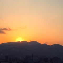 私のお気に入り/夕日/オレンジ色/山に沈む夕日/わたしのお気に入り 夕日を見るのが好きです。 私のお気に入り…