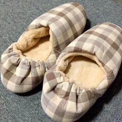 無印良品/やわらかルームシューズ/暖かい/歩きやすい 寒さ対策に。 無印良品のやわらかルームシ…(1枚目)
