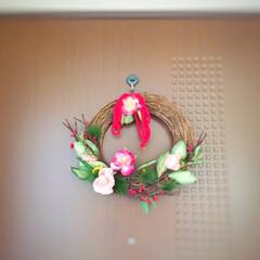 冬の一枚/お正月/新年/玄関飾り/しめ縄/リース/... 冬の一枚。 お正月の準備を始めました。 …