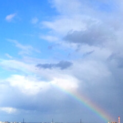 今日の空/天気雨/虹/幸せ 今日の空。 天気雨の後の虹。 もう、うっ…