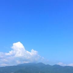 なつぞら/雲/モクモク/気温が高い/景色 なつぞら。 モクモクとした雲が、夏を感じ…