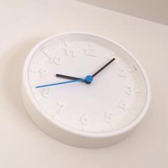 お気に入り/イケア/時計/白/ブルー/モノトーン/... 私のお気に入り。 イケアの時計です。 白…