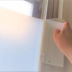私のDIY/窓/シート/空気/DIY 私のDIY。 窓にシートを貼るの巻。 空…