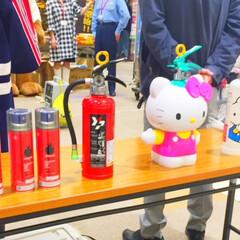 防災イベント/消火器/キティちゃんタイプ/スプレータイプ 防災イベント「もしも北海道2018」にて…