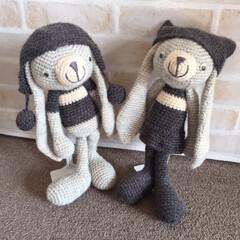 わたしの手作り/あみぐるみ/キット/モノトーン/愛着がわきます あみぐるみ。 モノトーンの毛糸で編んでい…