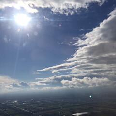 景色/空の旅/俯瞰/晴れ間 空の旅は、上空から俯瞰することで気持ちが…