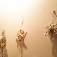 クリスマスインテリア/お手軽/オーナメント/壁に飾る お手軽クリスマス。 オーナメントを壁に掛…