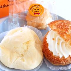 シュークリーム/北海道/北菓楼/ハロウィン/カボチャ 北菓楼のシュークリーム。 ピスコットはも…