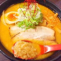 今日のランチ/札幌ラーメン/味噌/生姜/極み 今日のランチ。 札幌と言えば、味噌ラーメ…
