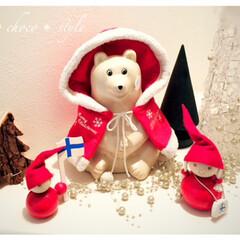 雑貨だいすき。/北欧雑貨/しろくま/書金箱/サンタ/クリスマス/... 雑貨だいすき。 しろくまの貯金箱をクリス…