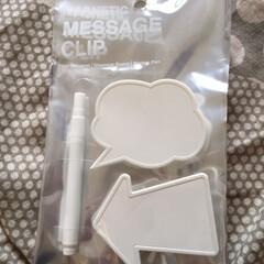 かっぱ橋/baise/メッセージクリップ/板チョコ/ホワイトボード メッセージが書けるクリップ。 かっぱ橋の…