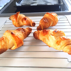 朝ごはん/リピ買い/ピカール/冷凍/クロワッサン/癒し/... 今日の朝ごはん。 美味しくてリピ買いして…
