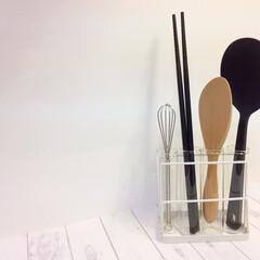私のお気に入り/ガラス/シリコン/木製/ステンレス/シリンダーボトル/... 私のお気に入り。 調理道具の収納に、試験…