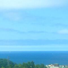 私のお盆/ドライブ/後志自動車道/景色/風景 高速道路からの眺め。 海が一望できます。…(1枚目)