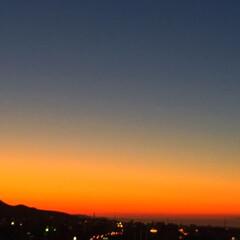 夕日/景色/風景/オレンジ色/夕日の名所 今日の夕日。 見とれてしまうほどのオレン…