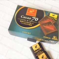 おやつ/チョコレート/カカオ/フェアトレード商品/美味しい 今日のおやつ。 森永・カレドショコラ。 …(1枚目)