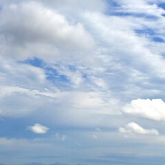 今日の空/雲/気温が低い/雨/天気/親子雲 今日の空。 雲が多くて気温も低い。 雲の…