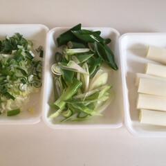 わたしのごはん。/しあわせご飯。/長ネギ/新鮮なうちに/わたしのごはん わたしのご飯。 野菜の下準備。長ネギは初…