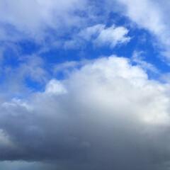 晴れのち雨/天気/雲/空/風景/景色 雨雲の上は晴れ。 青空が見えたと思ったら…