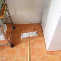 掃除/キッチン/埃/ワゴン/便利 棚を撤去してワゴンにしたら 掃除がしやす…