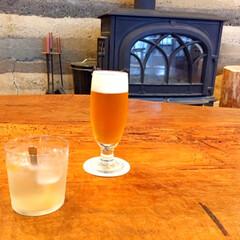 北海道/帯広市/ホテルヌプカ/ビール/ジンジャーエール/旅はじまりのビール/... ホテルヌプカにて。 オリジナルのビールと…