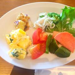 今日のランチ/サラダビュッフェ/野菜モリモリ/美味しい 今日のランチ。 サラダビュッフェで、野菜…
