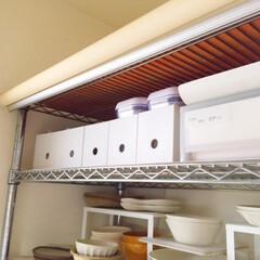 キッチン/キッチン収納/ワイヤーラック/無印良品/ファイルボックス/オープン収納 キッチン収納。 ワイヤーラックのオープン…