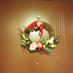 あけましておめでとうございます/しめ縄飾り/お正月用リース/再利用/使い捨て あけましておめでとうございます。 今年も…