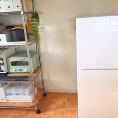 キッチン/模様替え/棚/整理/ポッカリ空いた キッチンの模様替え。 棚の中を整理したら…