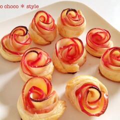 幸せおうちごはん。/りんごのパイ/バラに見立てて/おうちごはん 幸せおうちごはん。 りんごをバラに見立て…