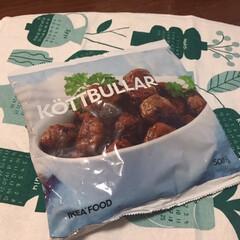 イケア/ミートボール/レンジでチン/美味しい イケアで食品を買う。 定番のミートボール…