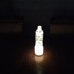 ペットボトルランタン/停電/イケア/LEDライト 停電時にペットボトルランタン、実際にやっ…