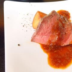わたしのごはん/しあわせご飯/ビュッフェ/ランチ/ローストビーフ しあわせご飯。 ビュッフェランチの一品。…