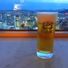 今日のご褒美/サッポロクラシック/北海道限定/美味しい/夜景/ビール 今日のご褒美。 頑張った自分へ。 夜景を…(1枚目)