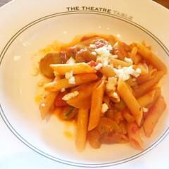 今日のランチ/トマトパスタ/ペンネも美味しい/ナスも美味しい 今日のランチ。 ペンネのトマトパスタ。 …