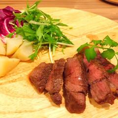 今日の美味しいモノ/お肉/焼き具合/美味しい 今日の美味しいモノ。 お肉もいただきます…