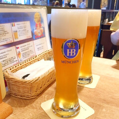 ビール/ドイツ/ご褒美 暑くて湿度が高い日はこれに限る! 頑張っ…