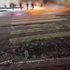 冬の風物詩/北海道/札幌/横断歩道/スケートリンク/気をつけてね 冬の風物詩。 北海道・札幌の街は、歩くの…